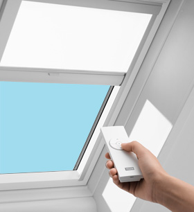 Skylights and solar blinds sapia builders corp for Velux solar blinds